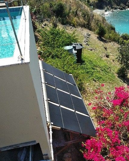 Canopy Pool Heater Mount in St. Thomas USVIl